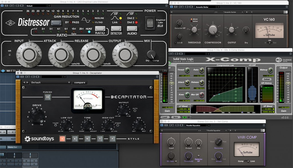 Compressors used on the EP sound