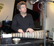 Thomas Bloch with his Glass Armonica