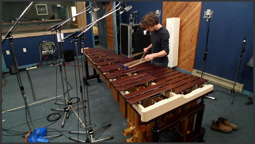 how to mic a marimba live
