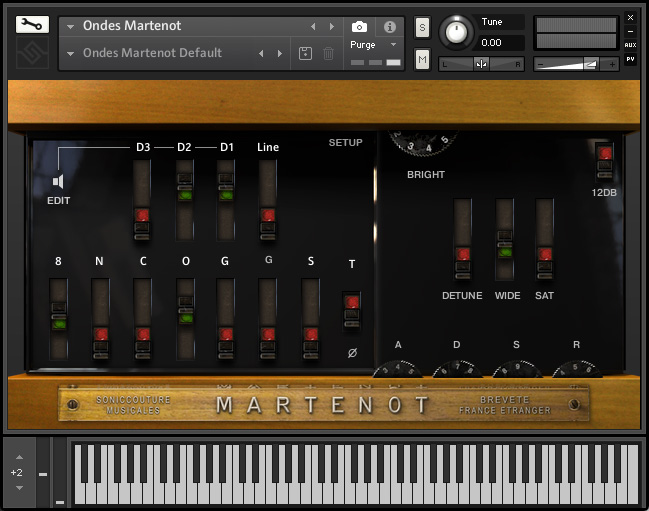 The Ondes Instrument - Main Panel